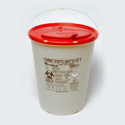 Safety plastic round box image