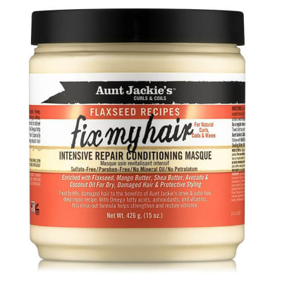 Aunt Jackie's Curls & Coils Flaxseed Recipes  Fix My Hair Intensive Repair Conditioning Masque  image