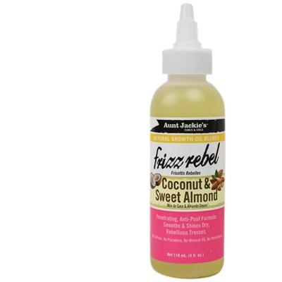 Aunt Jackie's Natural Growth Oil Blends  Frizz Rebel Coconut & Sweet Almond Hair Treatment  image