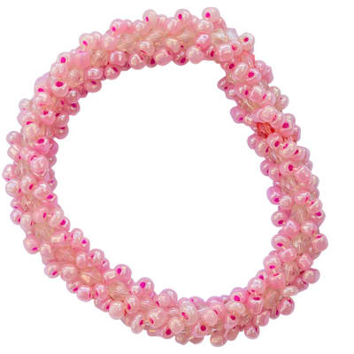 Bracelet Beaded  with Pink  Beads image