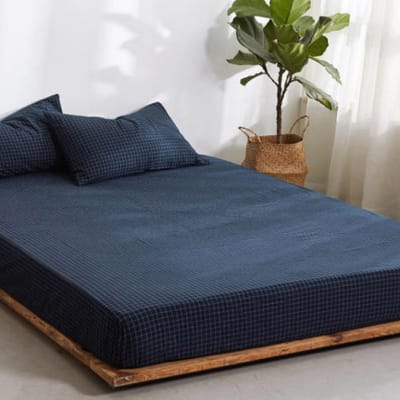 Bed cover sheets 1.5x1.8m  Simmon mattress cover Dark blue - 29043311543 image