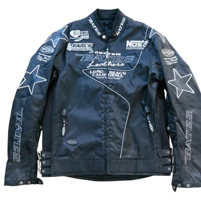 Motorcycle Jacket - Bates Leather Hooker Header Earls Performance image
