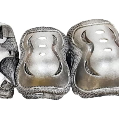 Silver  Bicycle & Skate Pad Set  Lightweight & Protective  image