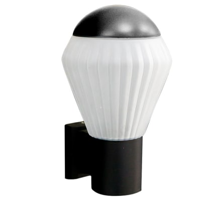 Black Top Cone Wall Light image