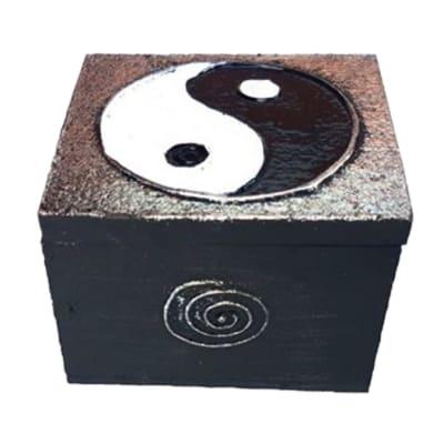 Black Ying & Yang Decorative Box image