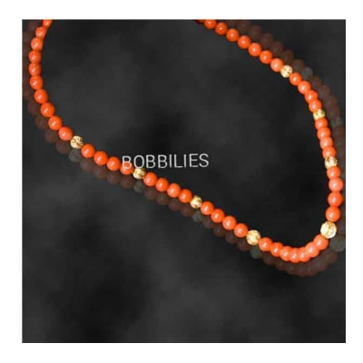 Handcrafted Orange Bead Necklace  image