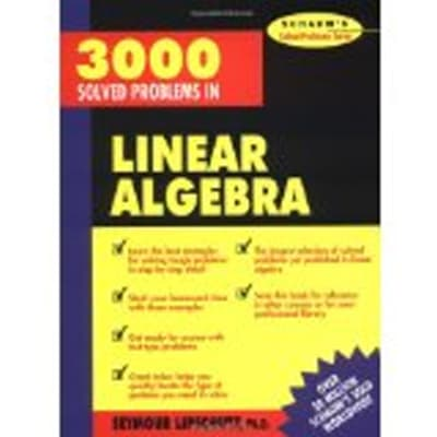 3,000 Solved Problems in Linear Algebra by Seymour Lipschutz image