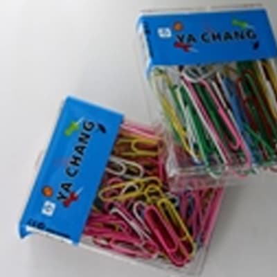 JY Colored coated paper clips 33MM image