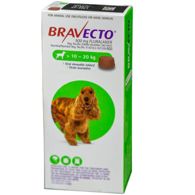 Bravecto Oral Chewable Tablet for Dogs 10-20kg image