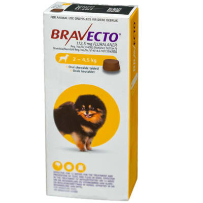 Bravecto Oral Chewable Tablet for Dogs 2-4.5kg image