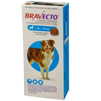 Bravecto Oral Chewable Tablet for Dogs 20-40kg image