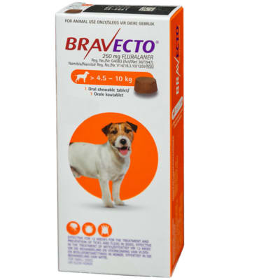 Bravecto Oral Chewable Tablet for Dogs 4.5-10kg image