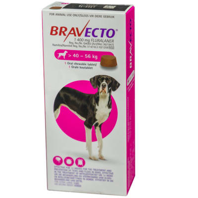 Bravecto Oral Chewable Tablet for Dogs 40-56kg image