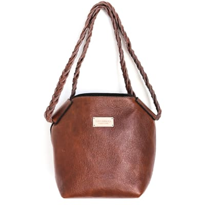 Bucket bag in leather image