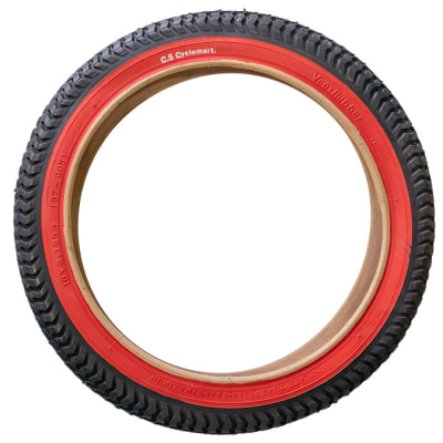 Tyres Fat-Tyre Red Trim Bicycle Tyres 16x2.125 image