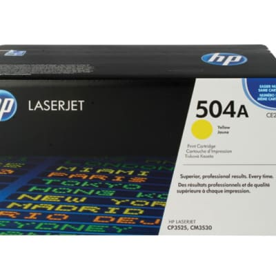 Printer Toner Cartridges - Hewlett Packard CE252A (HP 504A) Yellow Toner Cartridge image
