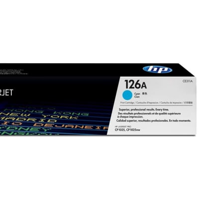 Printer Toner Cartridges - Hewlett Packard CE311A (HP 126A) Cyan Toner Cartridge image