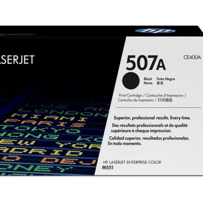 Printer Toner Cartridges - Hewlett Packard CE400A (HP 507A) Black Toner Cartridge image