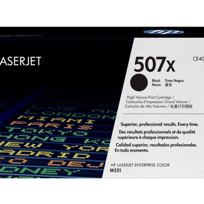 Printer Toner Cartridges - Hewlett Packard CE400X (HP 507X) Black Toner Cartridge image