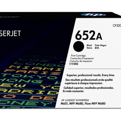 Printer Toner Cartridges - Hewlett Packard CF320A (HP 652A) Black Toner Cartridge image