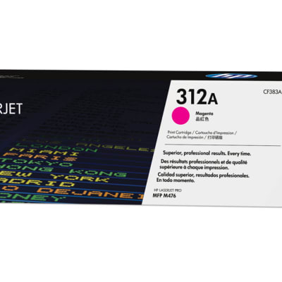 Printer Toner Cartridges - Hewlett Packard CF383A (HP 312A) Magenta Toner Cartridge image
