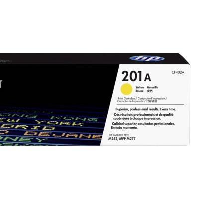 Printer Toner Cartridges - Hewlett Packard CF402A (HP 201A) Yellow Toner Cartridge image