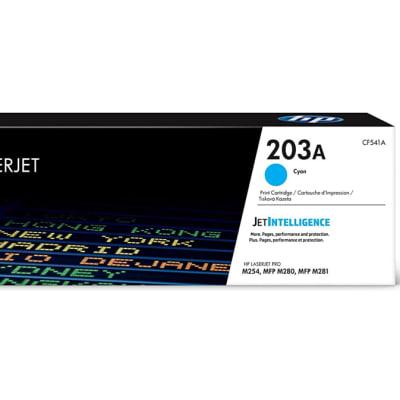 Printer Toner Cartridges - Hewlett Packard CF541A (HP 203) Cyan Toner Cartridge image