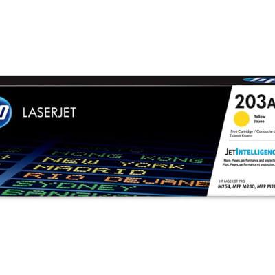 Printer Toner Cartridges - Hewlett Packard CF542A (HP 203A) Yellow Toner Cartridge image