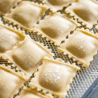 Tansi Kitchen -Fresh pasta: Chicken and Rosemary Ravioli image