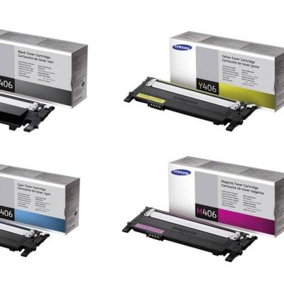 Samsung Clt-406s Black & Colour Toner Cartridges  (Clp-365) image