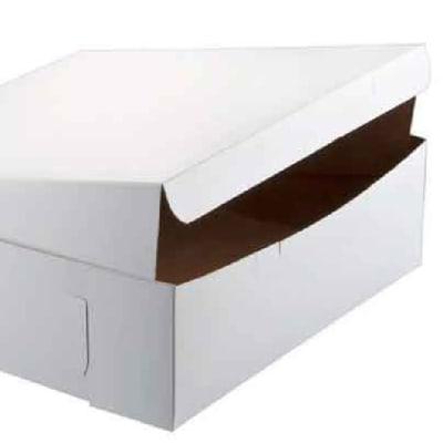 Foldable Cake Box  White  image