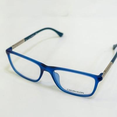 Calvin Klein Full Rim Eyeglass Frames - Blue & Silver image
