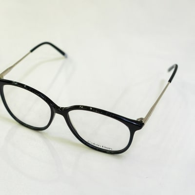 Calvin Klein Full Rim Eyeglass Round Frames - Black  image