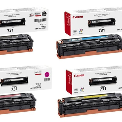 Canon 731 Black & Colour Toner Cartridges  image