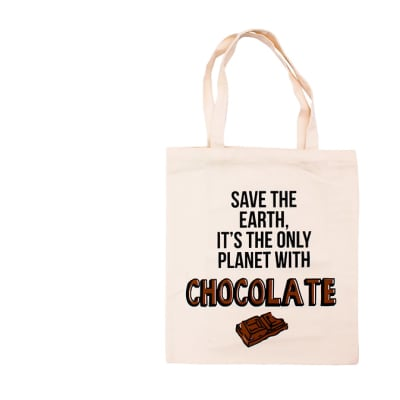 Canvas Tote Bag Eco-Friendly save the Earth It's... image