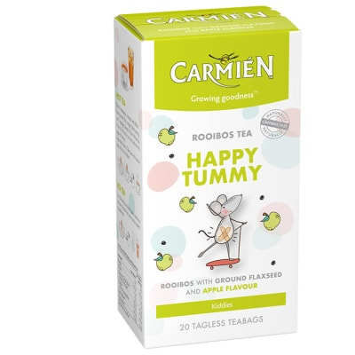 Herbal Tea  Apple Flavoured Rooibos Tea with Ground Flaxseed & Fennel  Happy Tummy 20 Teabags image