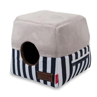 Cat's Life Navy Striped Cat Box image