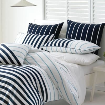 Duvet Cover - Damien Blue Stripes image