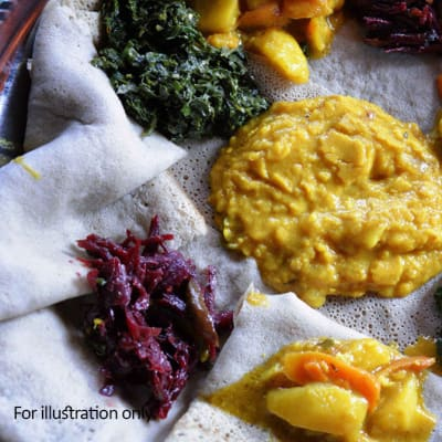 Zambian Fusion Dishes - Vegetarian - Zambian Vegetable Platter image