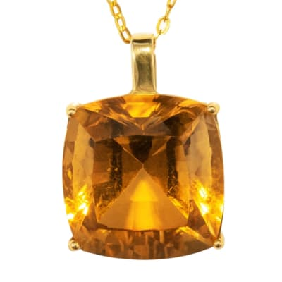 Yellow Gold Citrine  Cage Pendant image