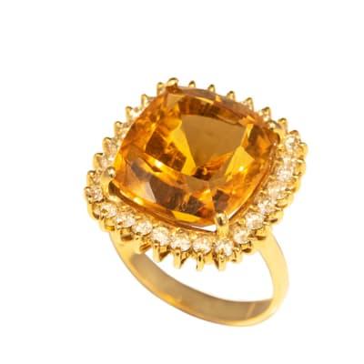 Classic Solitaire Citrine   Ring  image