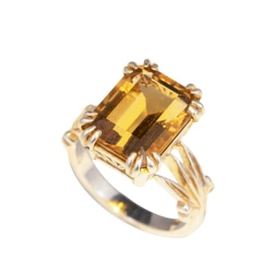 Silver  Citrine  Ring image