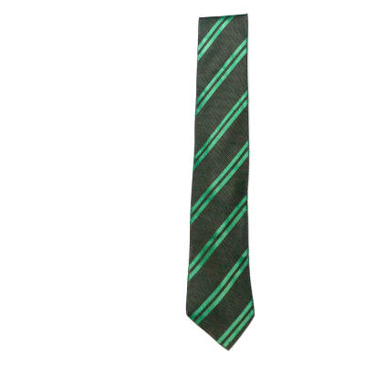 Black with Green Stripes Neck Tie image