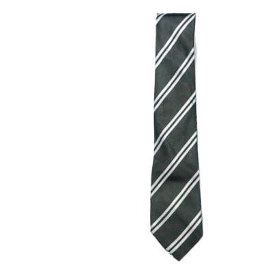 Black with White Stripes Neck Tie image