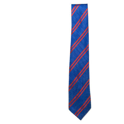 Blue with Red Stripes Neck Tie image