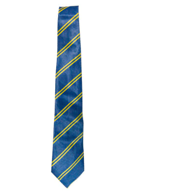 Blue with Yellow Stripes Neck Tie image