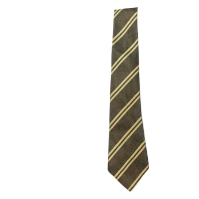 Brown with Light Brown Stripes Neck Tie image