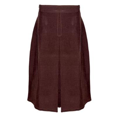 Girls Maroon Secondary School Skirts image