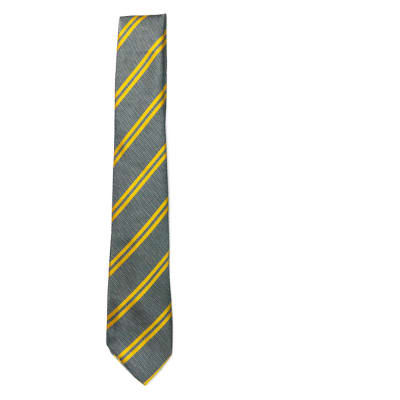 Gray with Gold Stripes Neck Tie image