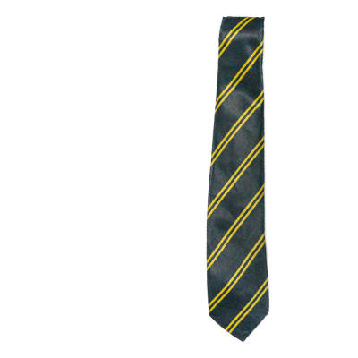 Gray with Yellow Stripes Neck Tie image